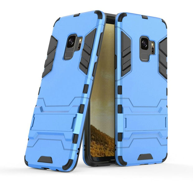3D Combo Armor Case For Samsung Galaxy S9 G960 G960F For Samsung Galaxy S9 Plus Shockproof Phone Back Cover Case Fundas Coque