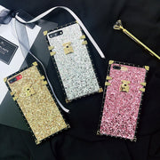 3D Luxury Square Cover For Huawei Honor P20 PRO Nova 3 Shiny Gold Pink Soft Silicone Fashion Secret Glow Phone Case Coque