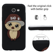 3D Male Owl With Hat Design Case Cute TPU Phone Cover For Samsung Galaxy J3 2017/ J5 2017 / J7 2017 Just For US Version