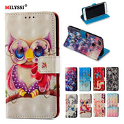 3D Painted Luxury Flip Wallet Case For Xiaomi MI 5X Book Flip Style High Quality Mobile Phone Cases For Xiaomi 5X Stand Cover