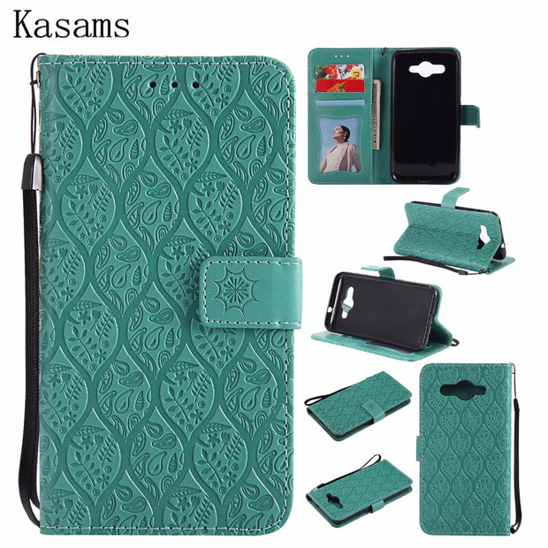3D Vines Emboss For Huawei Y3 2017 Y6 2017 Phone Shell Wallet Flip Stand Cover Case For Huawei Y6 Y3 III 3 Bags