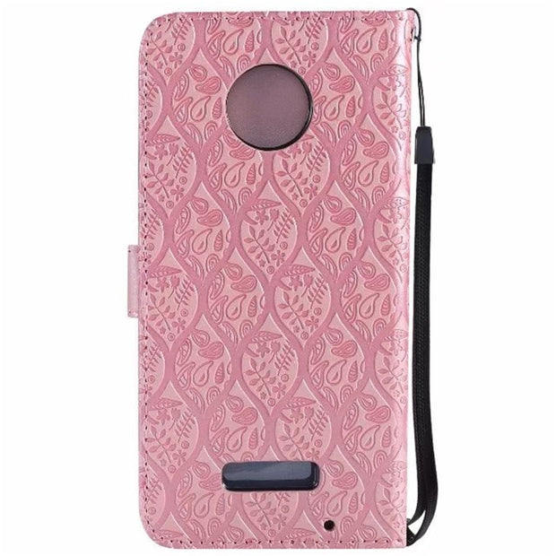 3D Vines Emboss For Motorola Moto Z Force Phone Case For Motorola Moto X Style XStyle PU Leather Mobile Shell Flip Stand Cover