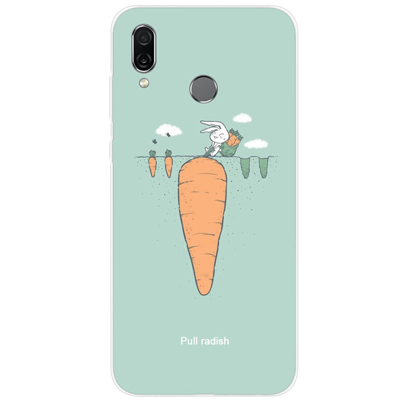 6 3 Phone For Huawei Honor Play Case Silicone Painted Silicone Soft TPU  Back Cover Coque Honor Play COR-L29 Cor L29 Funda Ky103
