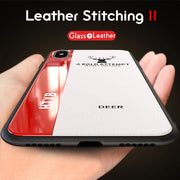 ADKO Luxury Phone Case For IPhone X Leather Soft Silicone Plexiglass Cover For IPhone XS MAX