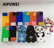 AIPUWEI Cute Licorne 3D Cartoon Horse Cute Unicorn Case Soft Silicone Back Cover For IPod Touch 5 Itouch 5 Itouch5 Unicorn Coque