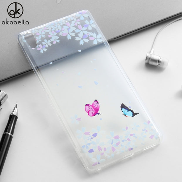 AKABEILA Case For Sony Xperia XA Ultra Dual F3212 F3216 F3211 F3215 F3213 C6 Case Case Heyqie Painted TPU Silicone Phone Cover