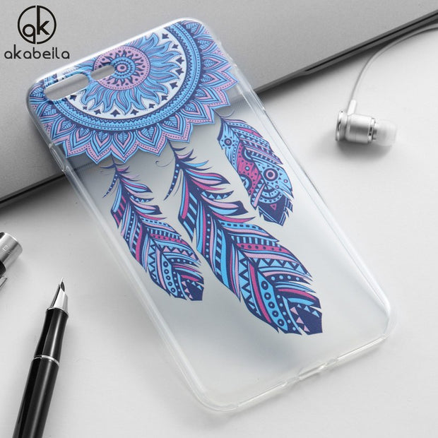 AKABEILA For IPhone 8 IPhone8 Case Heyqie Thin Painted TPU Silicone Back Phone Cover Bag Housing