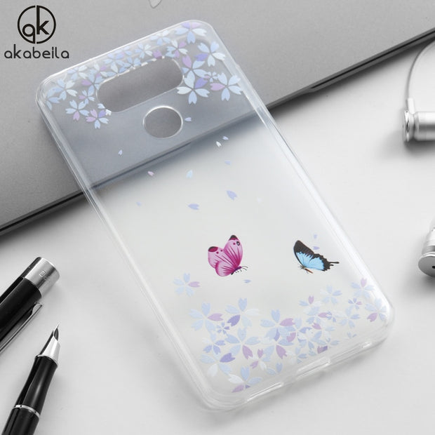 AKABEILA Phone Case For LG G6 G6+ H870DS H870 H871 H872 H873 H870K LS993 US997 VS998 Colorful Pattern Cases For LG G6 Covers