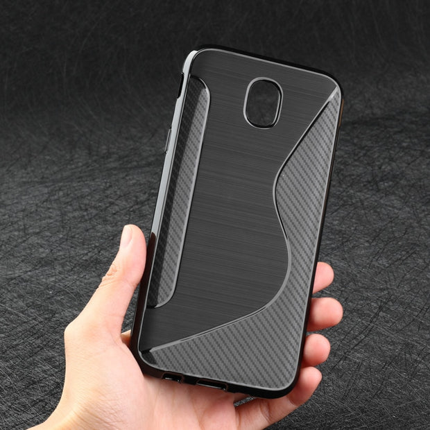 AKABEILA S Line Phone Case For Samsung Galaxy J5 2017 Cases Silicone Cover Simple Elegant J530F J530 EU Eurasian Version 5.2""