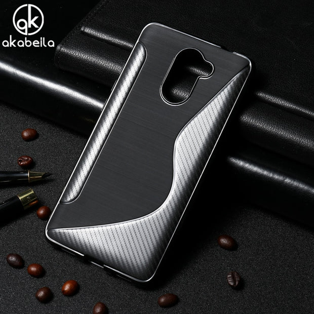 AKABEILA S Line Phone Cases For Huawei Y7 Prime Huawei Enjoy 7 Plus TRT-AL00A 5.5inch Case Silicone Soft TPU Covers Holly 4 Plus