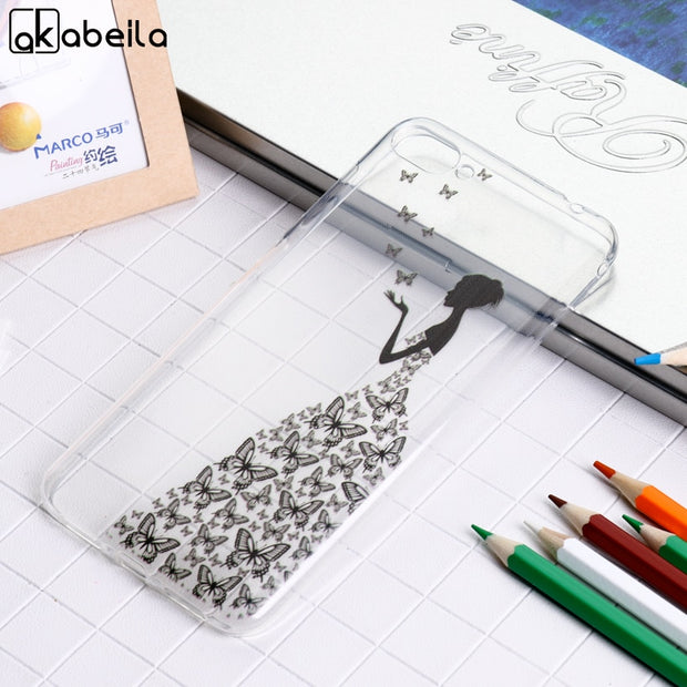 AKABEILA Soft Case For Asus Zenfone 4 Max ZC520KL Silicon Cases Anti Knock Cover Zenfone 4 Max ZC520KL Covers