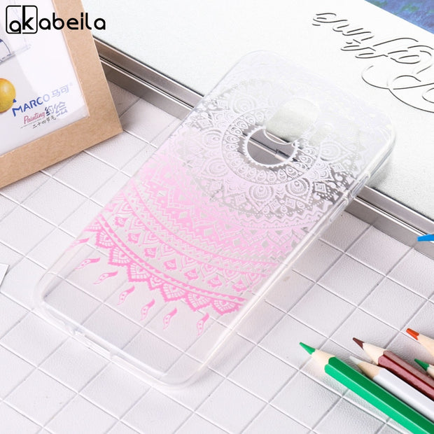 AKABEILA Soft Case For Samsung Galaxy J2 Pro 2018 Silicon Cases Anti Knock Cover J250F J250 J250F/J250G/J250M Covers