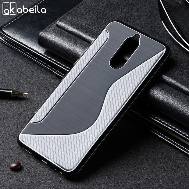 AKABEILA Soft Cases For Huawei Mate 10 Lite Case Silicon TPU Black Cover For Huawei Nova 2i Case Housing S Line G10 Honor 9i 5.9