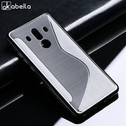 AKABEILA Soft Cases For Huawei Mate 10 Pro Case Silicon TPU Black For Huawei Mate 10 Pro Cover Housing S Line Bags BLA-L09 6.0