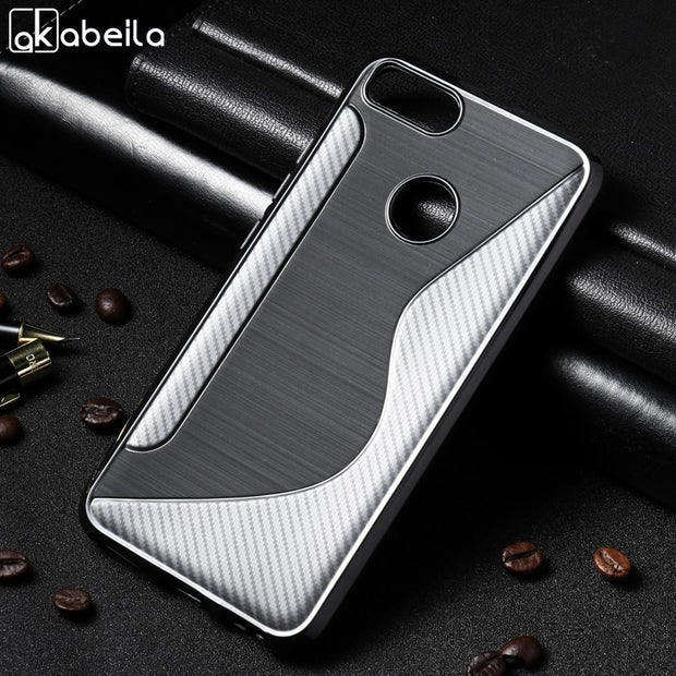 AKABEILA Soft Cases For Huawei P9 Lite Mini Case Silicone Black Cases For Huawei Nova Lite 2017 Cover Coque Enjoy 7 Y6 Pro 2017