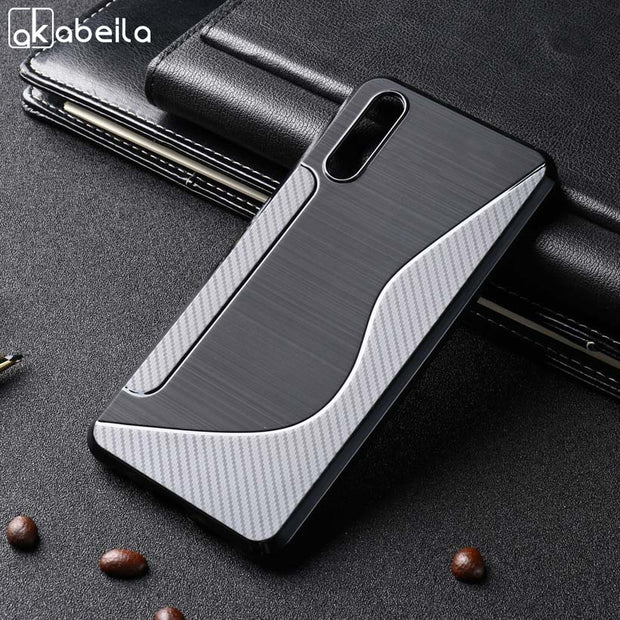 AKABEILA Soft Silicone Case For Huawei P20 Case TPU Black Logement S Ligne For Huawei P20 Couverture Rear Mofi Equipped