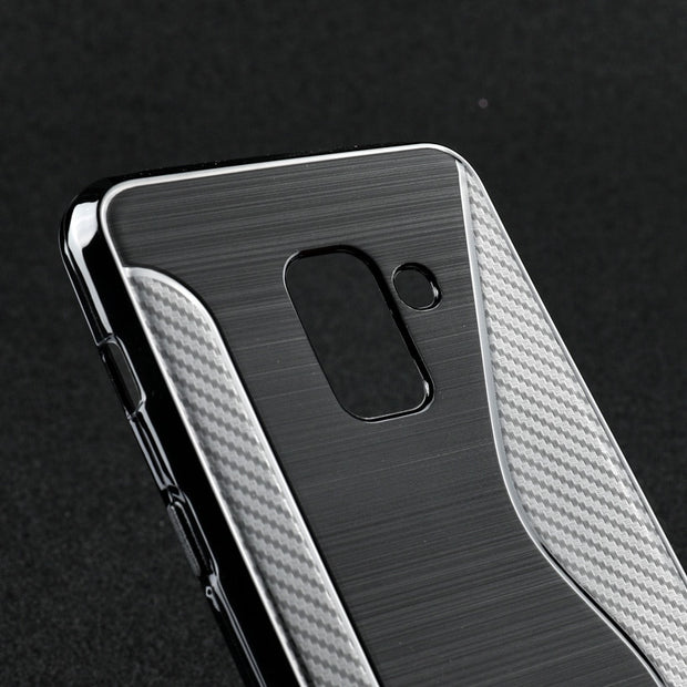AKABEILA Soft TPU Case For Samsung Galaxy A8 2018 Case Silicone Black Cases For Samsung A8 2018 Cover Coque Flexible Slim