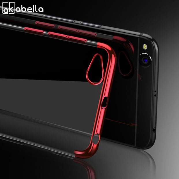 AKABEILA Soft TPU Case For Xiaomi Redmi 5A Cases Plated Shining Silicone Cover For Xiaomi Redmi 5A Covers Fundas Back Coque Capa