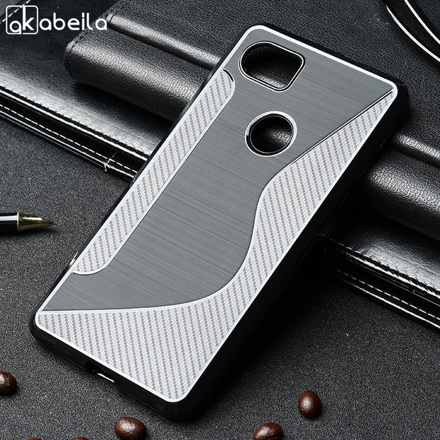 AKABEILA Soft TPU Cases For Google Pixel XL2 Case Silicone 6.0inch SLine Black Coque Bumper For Google Pixel XL 2 HTC Pixel XL 2