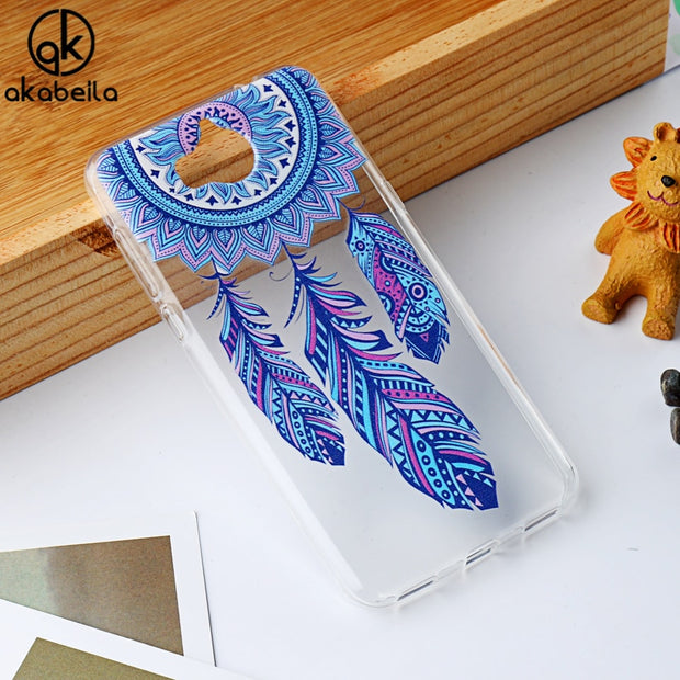 AKABEILA Soft TPU Phone Case For Huawei Y5 2017 Y5 III Y5 3 Y6 2017 MYA-L22 MYA-L03 MYA-L23 MYA-L02 Honor 6 Play Silicon Cover
