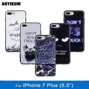 ARYIKUM For Coque Iphone 7 7s Plus 7plus Case Luxury Marble Silicon Rubber Phone Accessories Cover For I Phone 7 Plus Capinha