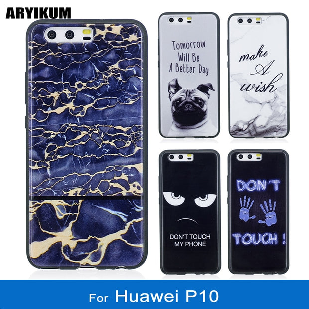 ARYIKUM For Huawei P10 P 10 Vtr-l09 Vtr-l29 Case Luxury Marble Silicon Cover For Huawey Hawei Hauwei P10 Accessories Case Fundas
