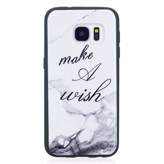 ARYIKUM Luxury Marble Silicone Case For Samsung Galaxy S7 G930f Sm-g930f Phone Accessories Cover For Samsung S7 S 7 Sansung S7