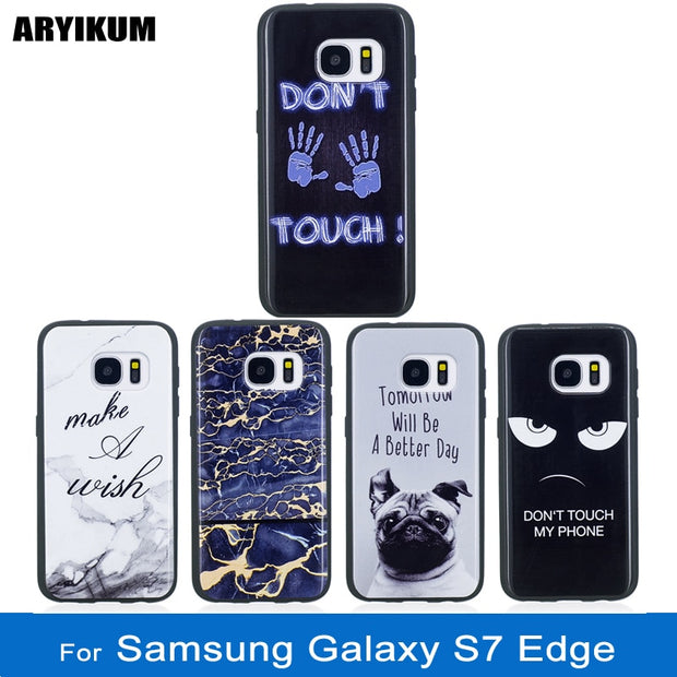 ARYIKUM Marble Case For Samsung Galaxy S7 S 7 Edge S7Edge G935f Sm-g935f Silicone Accessories Cover For Samsung Sansung S7 Edge