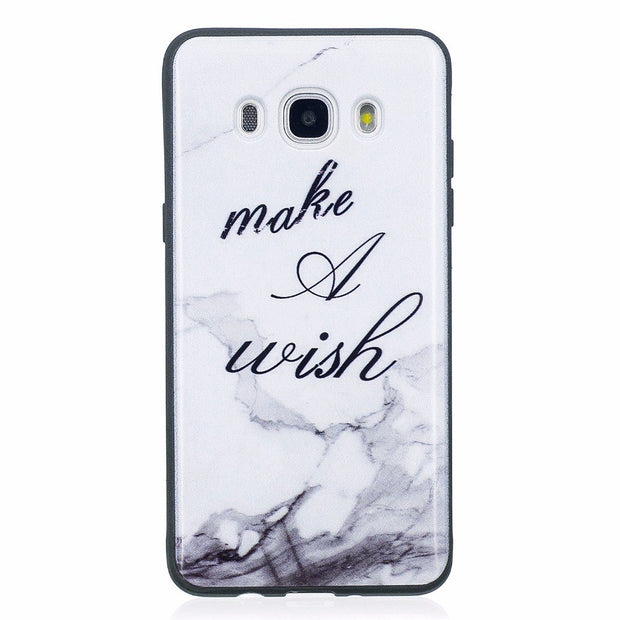 ARYIKUM Marble Phone Case For Samsung Galaxy J5 J 5 6 2016 Sm-j510f Silicon Coque Cover For Samsung J510 Samsung J5 2016 Etui