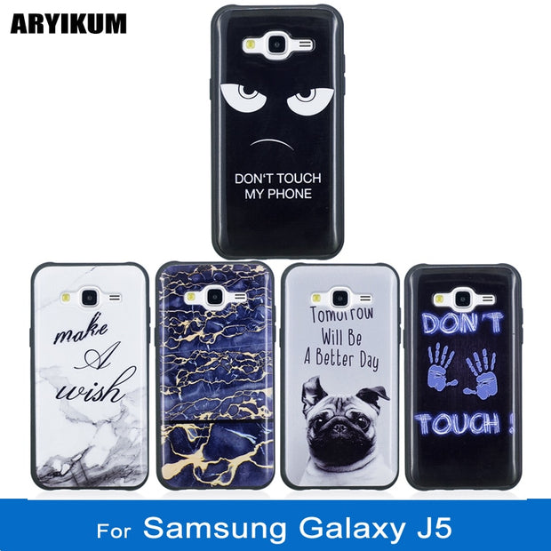 ARYIKUM Marble Phone Case For Etui Samsung Galaxy J5 Sm J500h Ds Case Silicon Cover For Sansung J5 Samsung J5 J 5 2015 Fundas