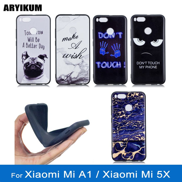 ARYIKUM Mobile Marble Phone Case For Etui Xiaomi Mi A1 4gb 64gb Ultra Thin TPU Silicone Cover For Xiaomi Mi 5X Mi5X Funda Capa