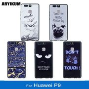 ARYIKUM Phone Case For Huawei P9 Dual Sim Eva-l09 Eva-l19 Case Silicon Marble Accessories Cover For Hauwei Huawey Hawei P9 Coque