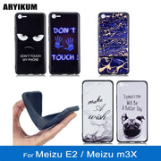 ARYIKUM Phone Cases For Meizu M3X Meizu Meilan E2 5.5 Inch Blue Silicone Marble Accessories Cover For Meizu E2 M2E 3gb 32gb