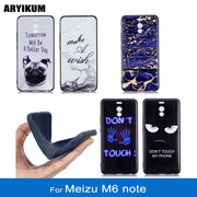 ARYIKUM Silicone Marble Cases For Meizu M6 Note 5.5 Inch For Meizu-M6-note Phone Cover For Meizu M6note 3gb 4gb 64gb 32gb 16gb