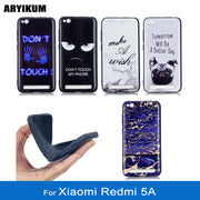 "ARYIKUM Slicone Marble Case For Xiaomi Redmi 5A 2gb 3gb 16gb 32gb Pro Prime 5.0"" Android Cover For Xaomi Xiomi Redmi5A Redmi 5 A"
