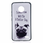 "ARYIKUM Smartphone Case For Motorola Moto E4 XT1762 XT1763 Case 5.0 "" Cartoon Dog Back Cover For Moto E4 Moto E 4 4th Gen Coque"