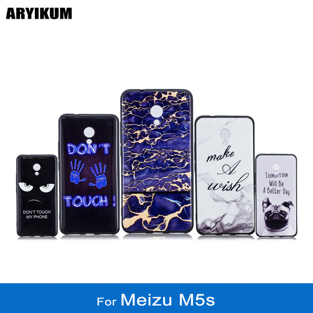 ARYIKUM Soft Silicone Cases For Meizu M5s 16gb 32gb For Meizu-M5s Marble Phone Cover Case For Meizu M 5s Meizu Meilan M5 S