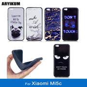 ARYIKUM TPU Silicone Case For Xiaomi Mi 5c Mi5c 3gb 64gb Black Marble Dog Cover For Xiaomi Mi 5c Telephone Back Housing Funda