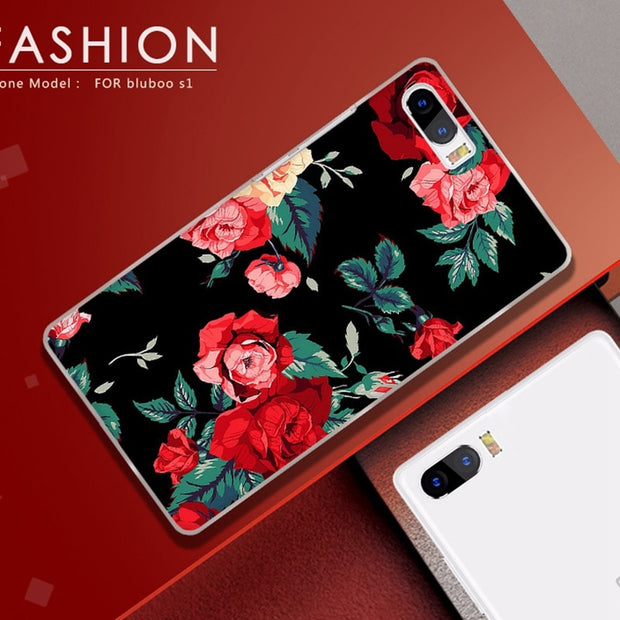 ASTUBIA Case For Bluboo S1 Cover Case For Bluboo S1 5.5 Case Fashion Flower Cat Hard Plastic Cover For Bluboo S1 Protective Case