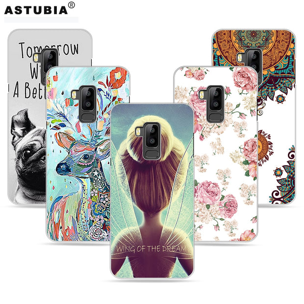 ASTUBIA Case For Bluboo S8 5.7 Case For Bluboo S8 Cover Case Cover DIY Name Cute Bulldog Painted Cover For Bluboo S8 Phone Cases
