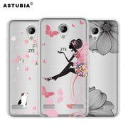 ASTUBIA Coque For ZTE Blade A520 Case Cover Silicone Transparent Cat Cover For ZTE Blade A520 5.5 Case For ZTE Blade A520 Cover