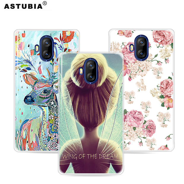 ASTUBIA DIY Name Case For Doogee Mix Lite Case Cover For Doogee Lite Mix Case Silicone Wings Girl Cover For Doogee Mix Lite 5.2
