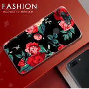 ASTUBIA Fashion Case For Oneplus 5T Case Cover For Oneplus5T Case Black Red Rose Painted Cover For Oneplus 5T Phone Case Fundas