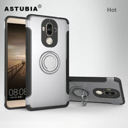 ASTUBIA For Huawei Mate 9 Pro Case For Huawei Mate 9 Cover TPU PC Ring Armor Car Magnet Phone Case For Huawei Mate 9 Pro Coque