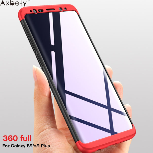 AXBETY Coque For Samsung C9 Pro Cover 360 Full Body Hard Hybrid Plastic Protection Cases SFor Samsung Galaxy S9/ S9 Plus Case