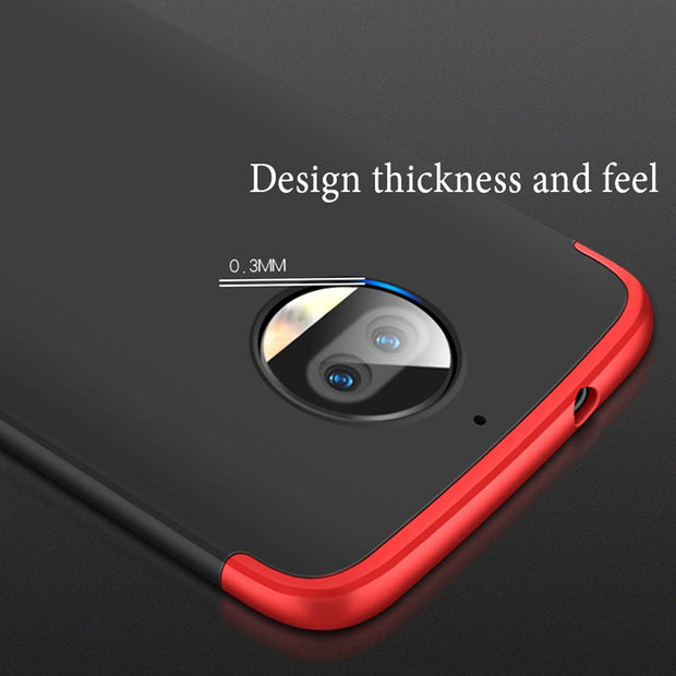 AXBETY Full Body Cover For Motorola Moto G5S Plus Case Ultra Thin Hard Hybrid Plastic Protection Phone Case For Moto G5S Plus