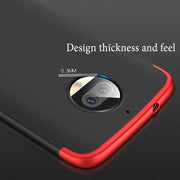 AXBETY Full Body Phone Case For Moto G5S Plus Case Ultra Thin Hard Hybrid Plastic Protection Cover S For Motorola Moto G5S Plus