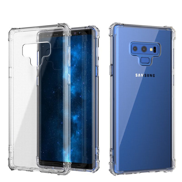 Airbag Clear Bumper For Samsung Galaxy S9 S8 Plus Note 8 9 A8 Plus J2 J3 J4 J5 J6 J7 2017 2018 Soft Case Slim Silicone TPU Cover