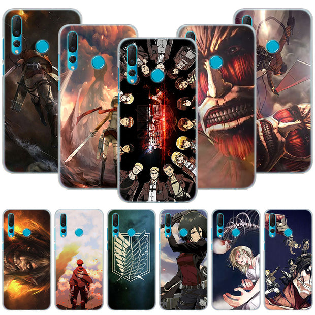 Anime Attack On Titan Phone Case Cover For Huawei Nova 2i 3 3e 3i 4 Mate 10 20 Lite P20 Pro P20 Lite Hard PC Phone Cases