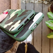 Armor Camouflage Case For IPhone 6 6s 8 7 Plus Silicone IMD Material Soft Skin Anti-knock Full Covers For IPhone X Coque Fundas